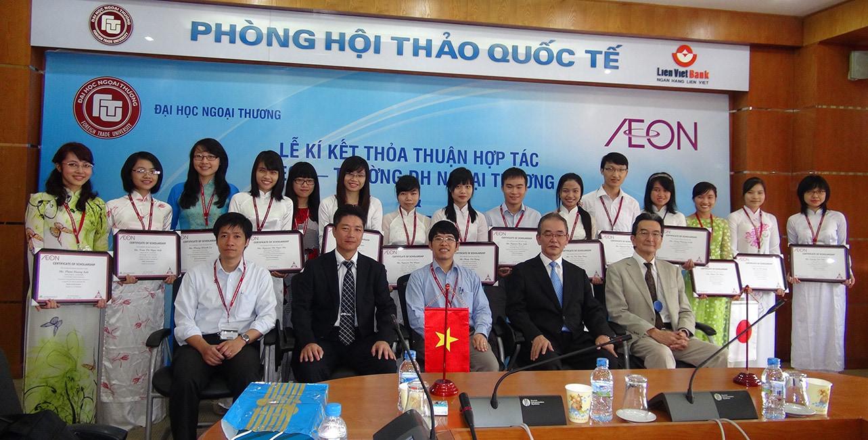 Hoạt động xã hội của AEON: Trao học bổng