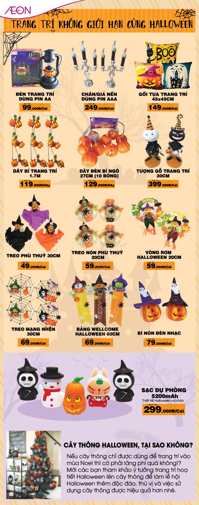 Trang trí không giới hạn cùng Halloween