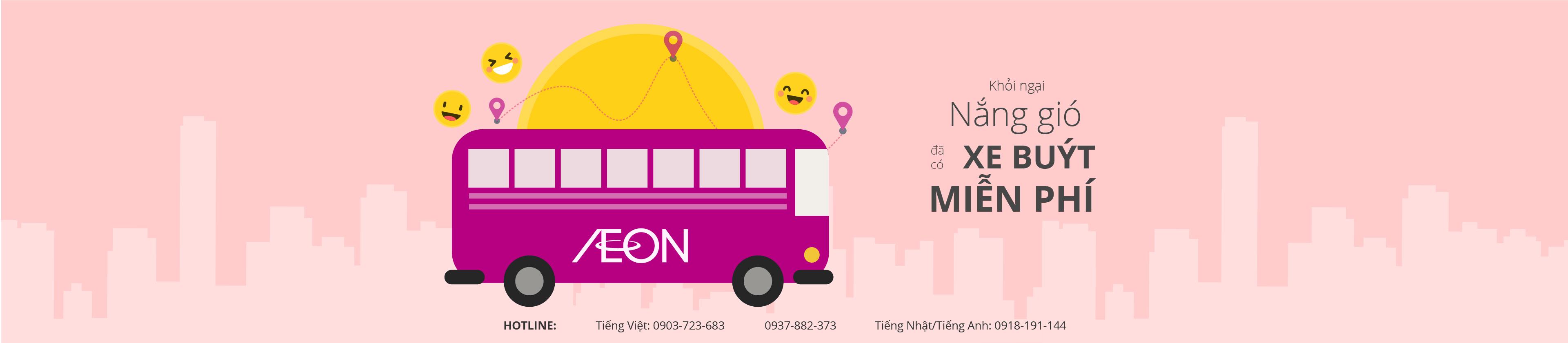 Xe buýt miễn phí tới Trung tâm mua sắm AEON