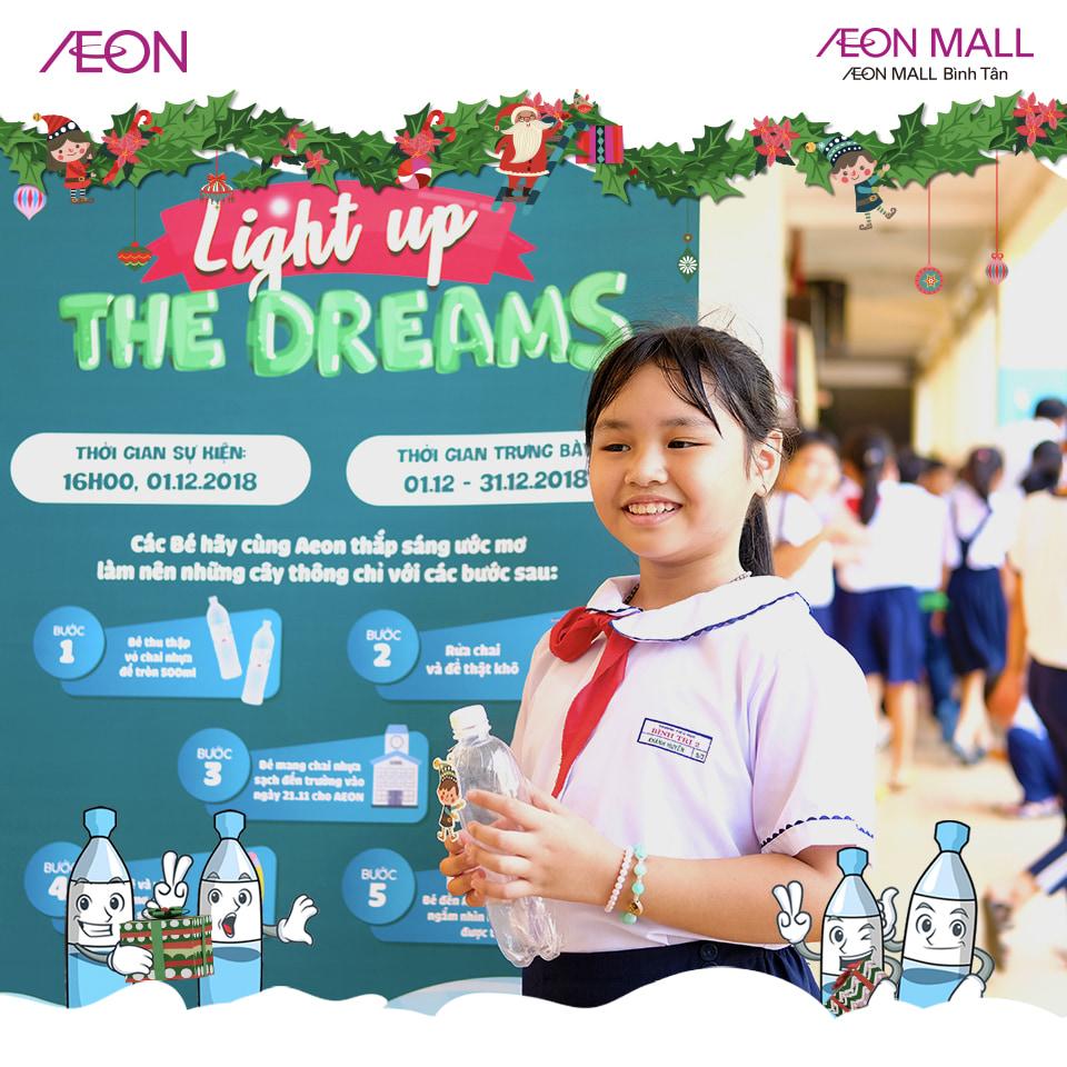 """Các bạn học sinh tham gia """"Light up the dreams"""" - Thắp sáng ước mơ cùng AEON"""