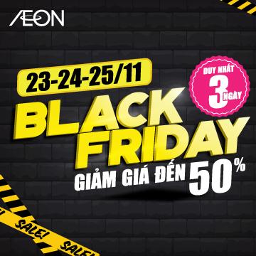 AEON Black Friday 2018 giảm giá đến 50%
