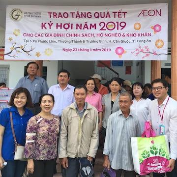 AEON cùng sở Công Thương tặng quà Tết Kỷ Hợi 2019 cho hộ khó khăn