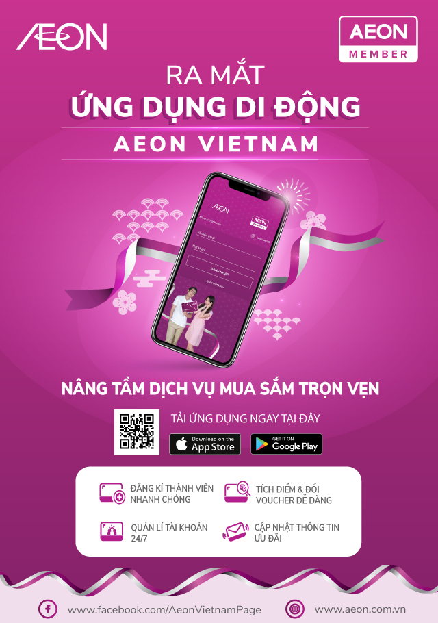 Ra mắt ứng dụng di động aeon vietnam