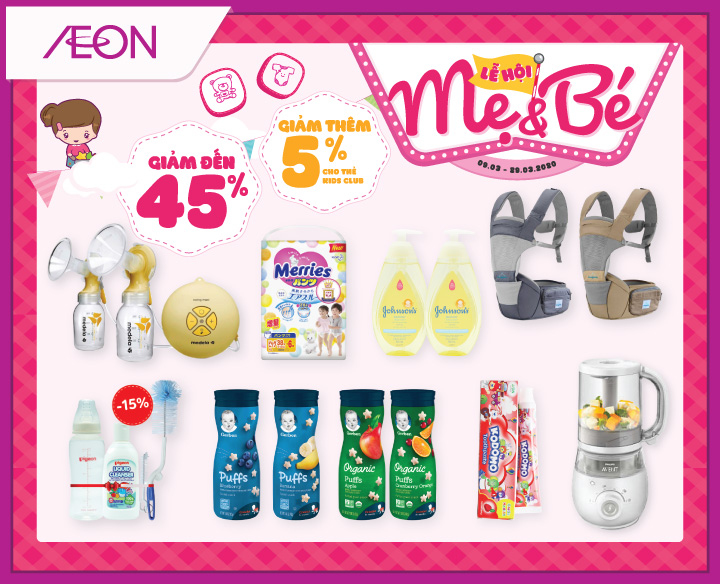 BABY FAIR – SALE UP TO 45% & DISCOUNT 5% FOR KIDS CLUB MEMBER